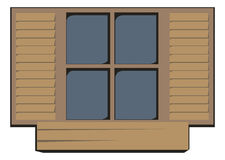 Wooden window closed Royalty Free Stock Photography