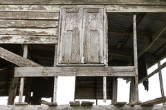 Wooden window decaying Royalty Free Stock Images