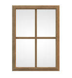 Wooden Window Frame. Isolated on white Stock Photo