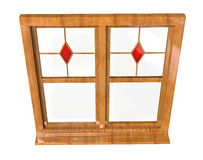 Wooden window frame Stock Images