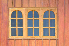 Wooden window with glass Royalty Free Stock Images