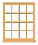 Wooden Window Illustration. Isolated on a White Background royalty free illustration