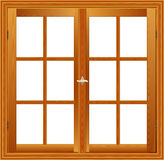 Wooden window illustration Stock Photos