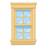 Wooden window isolated illustration Royalty Free Stock Image