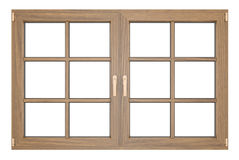 Wooden window. Isolated on white background Stock Images