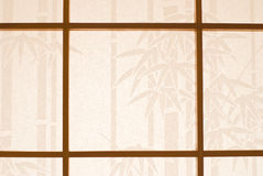 Wooden window and Japanese paper Stock Photography