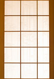 Wooden window and Japanese paper royalty free stock images