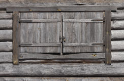 Wooden window with lock Royalty Free Stock Image