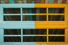 Wooden window. Nice window of old wooden house Royalty Free Stock Image