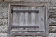 Wooden window of old barn Stock Photo