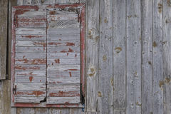 Wooden window of old barn Stock Photography