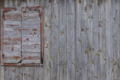 Wooden window of old barn Royalty Free Stock Photo