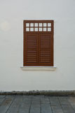 Wooden window of the old house in George Town, Malaysia Stock Photo