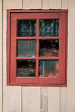 Wooden with window old house and grunge background Stock Image