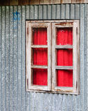A wooden window at old house in Ifugao, Philippines Stock Image