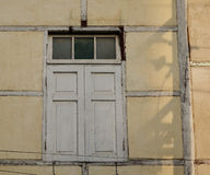 Wooden window at the old house in Inle, Myanmar Royalty Free Stock Photos