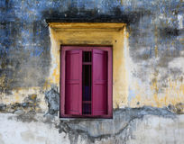 Wooden window at the old house in Penang, Malaysia Royalty Free Stock Image
