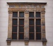 Wooden window. Old wooden window in Prague Castle, Czech Republic Royalty Free Stock Image