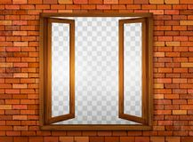 Free Wooden Window On The Windowsill. Royalty Free Stock Photography - 73249977