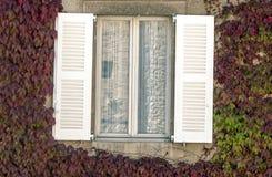 Wooden window open Stock Photos