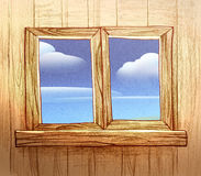 Wooden window Royalty Free Stock Photos