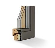 Wooden window profile Royalty Free Stock Photos
