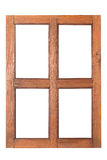 Wooden window rectangular Royalty Free Stock Photography