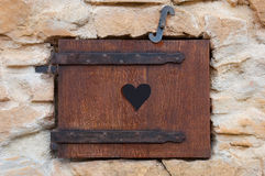 Wooden window romantic Royalty Free Stock Photography