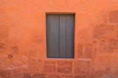 Wooden window in Santa Catalina monastery Arequipa Peru Stock Photos