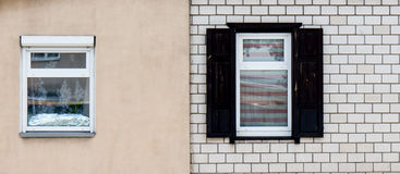 Wooden window. Wooden window with shutter doors royalty free stock photos
