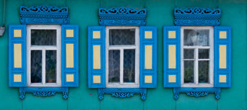 Wooden window. Royalty Free Stock Image