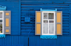 Wooden window. Wooden window with shutter doors Royalty Free Stock Images