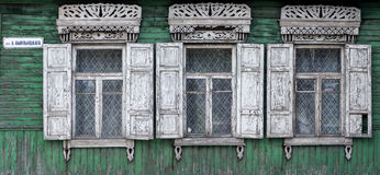 Wooden window. Wooden window with shutter doors stock image
