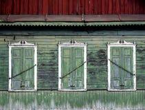 Wooden window with shutter doors. Stock Image