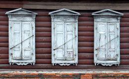 Wooden window with shutter doors. Stock Photography