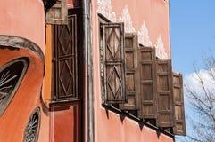 Wooden window shutters Royalty Free Stock Photo