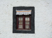 Wooden window at small house in Manali, India.  Royalty Free Stock Photos