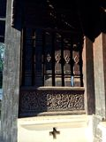 Wooden window. Window of the temple in thailand Royalty Free Stock Photo