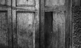 Wooden window texture background. Close up old wooden window texture background ( Black and White tone color Stock Image