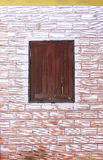 Wooden window on the wall. The wooden window on the wall Royalty Free Stock Photos