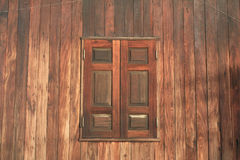 Wooden Window and wall of House Stock Photo