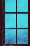 Wooden Window With Raindrops Royalty Free Stock Photos