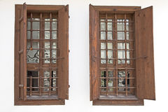 Wooden Windows Royalty Free Stock Photos