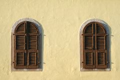 Wooden windows Stock Photo