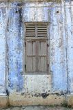Wooden windows of abandoned old building Royalty Free Stock Photography