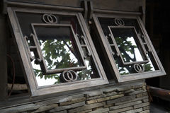 Wooden windows Stock Images
