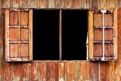 Wooden Windows. Hard wooden window asia style Royalty Free Stock Image