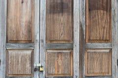 Locked Wooden window. Wooden windows locked with keys Stock Photography