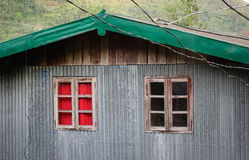 Wooden windows at the old house in Ifugao, Philippines Royalty Free Stock Images
