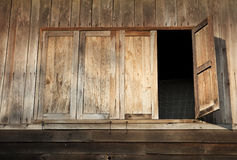 Wooden Windows of Old House in Thailand Royalty Free Stock Images